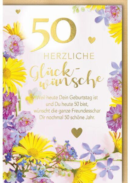 Karte Geburtstag 50 Jahre Weil heut dein Geburtstag ist und du heute 50 bist