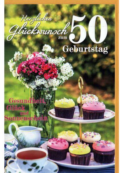 Geburtstagskarte 50 Gebrutstag Land Natur