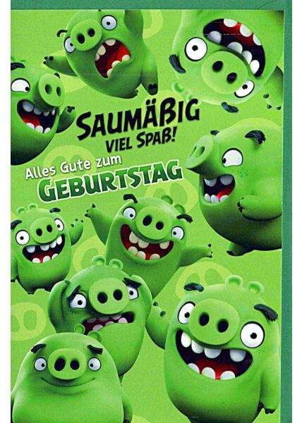 "Kindergeburtstagskarte Angry Birds ""saumäßig viel Spaß"""