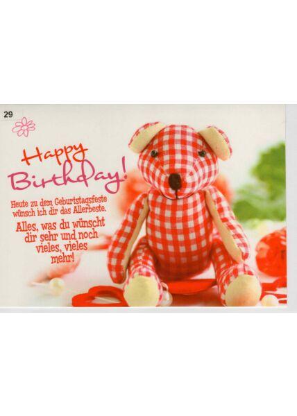 Glückwunschkarte Geburtstag heute zu deinem Geburtstagsfeste