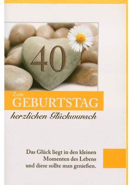 Geburtstagskarte 40. Geburtstag kleine Momente