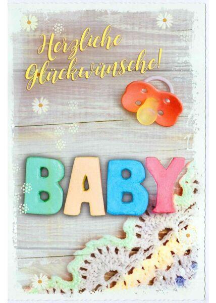 Glückwunschkarte Geburt Baby Das Lächeln der Kinder