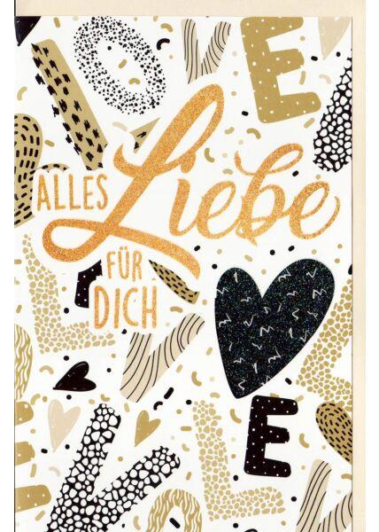 Grußkarte Glimmer Alles Liebe für Dich