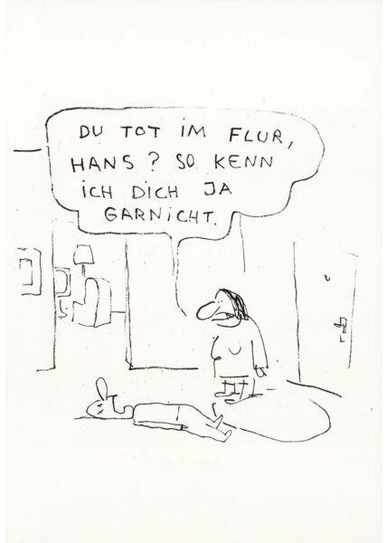 Postkarte lustig Hans Flur tot