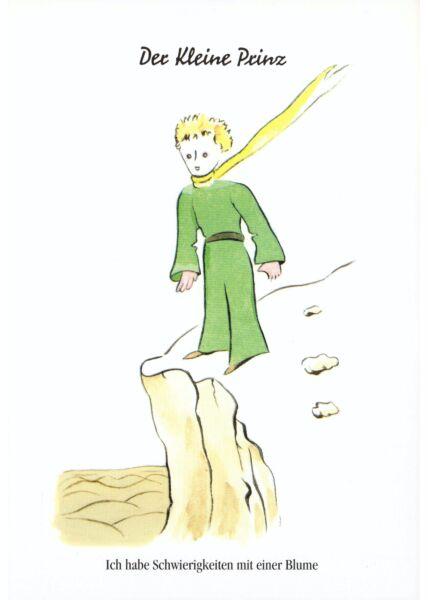 Postkarte Der kleine Prinz Ich habe Schwierigkeiten...