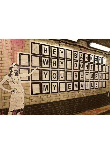 Kunstpostkarte Hey Banksy