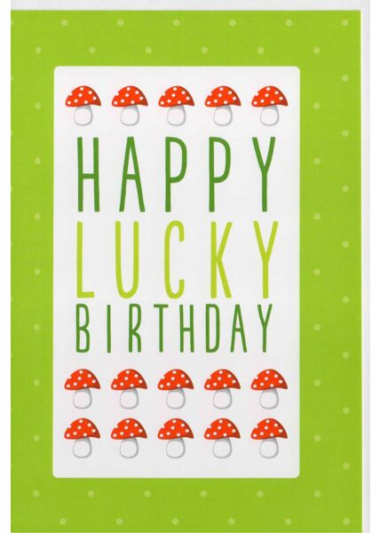 Geburtstagskarte originell: Happy lucky Birthday