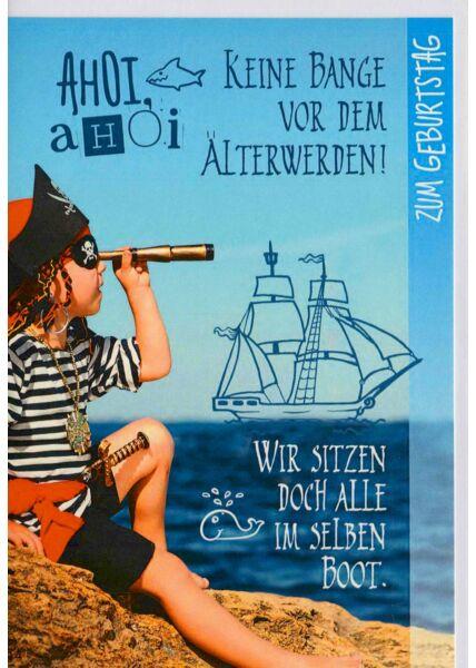 Geburtstagskarte Kindergeburtstag Ahoi Ahoi