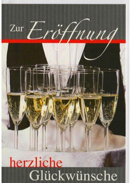 Business Grußkarten Glückwunschkarte zur Eröffnung herzliche Glückwünsche
