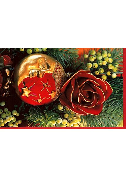 Karte Weihnachten ohne Text Weihnachtsschmuck Kuvert rot