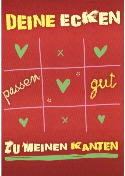 Postkarte Sprüche lustig Deine Ecken