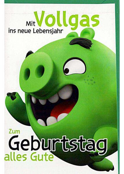 """Geburtstagskarten für Kinder Angry Birds """"Vollgas"""""""
