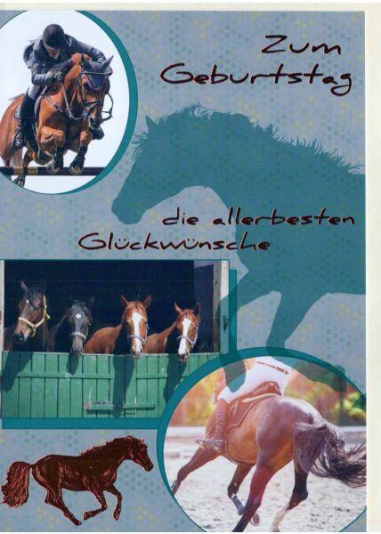 Geburtstagskarte mit Pferden