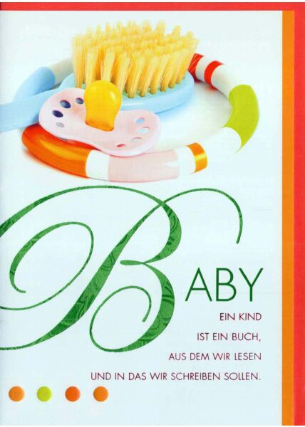 Glückwunschkarte zur Geburt mit schönem Spruch