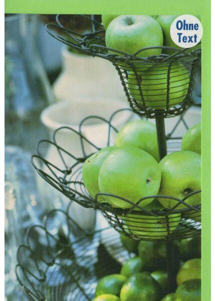 Grußkarte ohne Text grüne Äpfel