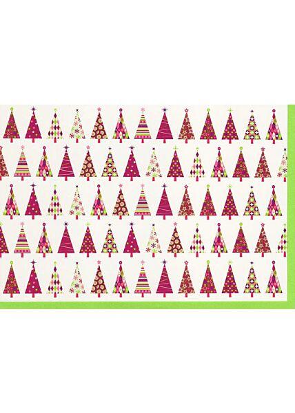 Weihnachtskarte Designmotiv Weihnachtsbäume