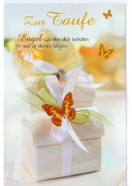 Grußkarte Taufe Engel werden dich beschützen