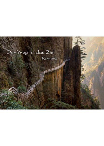 Postkarte Sprüche Der Weg ist das Ziel