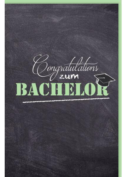 Glückwunschkarte zur Prüfung Congratulations zum Bachelor
