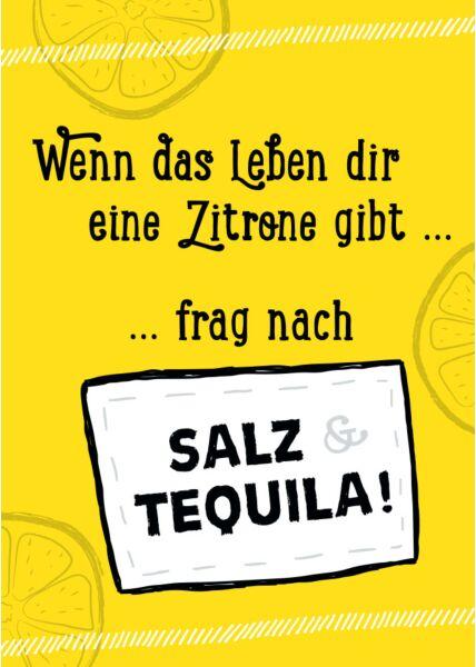 Postkarte Sprüche Wenn das Leben dir eine Zitrone gibt