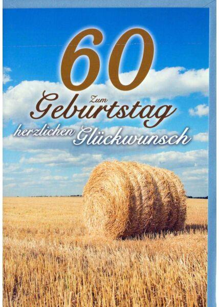 Geburtstagskarte 60. Geburtstag: Feld