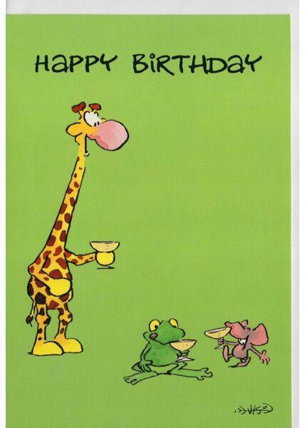 Glückwunschkarten Geburtstag;Geburtstagskarten lustig Leendert Jan Vis Geburtstagskarte Happy Birthday