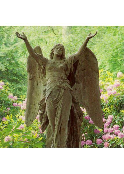 Grußkarte quadratisch ohne Text Statue Engel