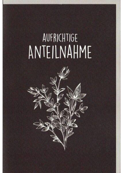 Beileidskarte Blätter, Naturkarton