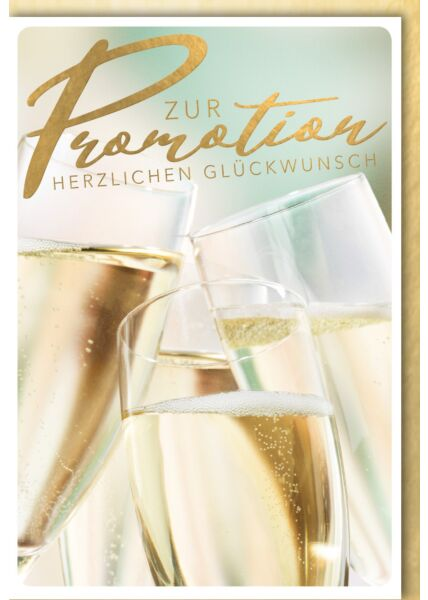 Glückwunschkarte Promotion - Sektgläser