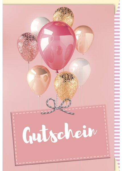 Glückwunsch - Gutscheinkarte Luftballons