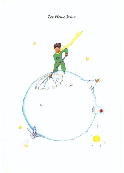 Postkarte Der kleine Prinz Der kleine Prinz...