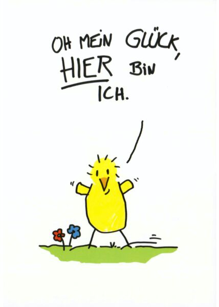 Postkarte Sprüche Oh mein Glück...