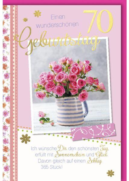 Geburtstagskarte 70 Ich wünsche dir den schönsten Tag