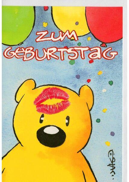 Glückwunschkarten Geburtstag;Geburtstagskarten für Kinder Leendert Jan Vis Geburtstagskarte Bär niedlich