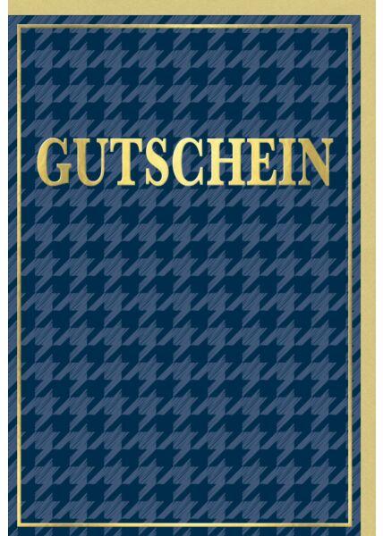 Gutscheinkarte - Goldener Rahmen