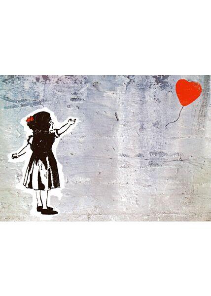 Kunstpostkarte Flying Heart