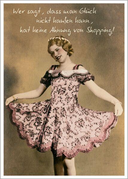Postkarte Spruch lustig Wer sagt, dass man Glück nicht kaufen kann
