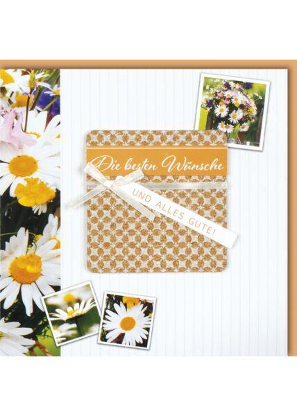 Glückwunschkarte quadratisch Die besten Wünsche