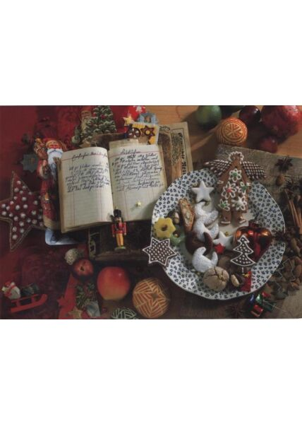Klassische Weihnachtskarte blanko: Weihnachtsteller