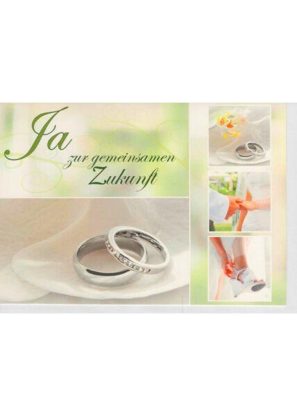Glückwunschkarte Hochzeit Ja zur gemeinsamen Zukunft