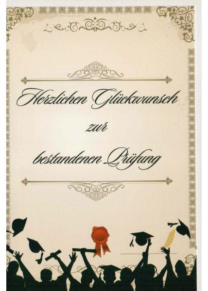 Glückwunschkarte Grusskarte Prüfung bestanden Master Bachelor
