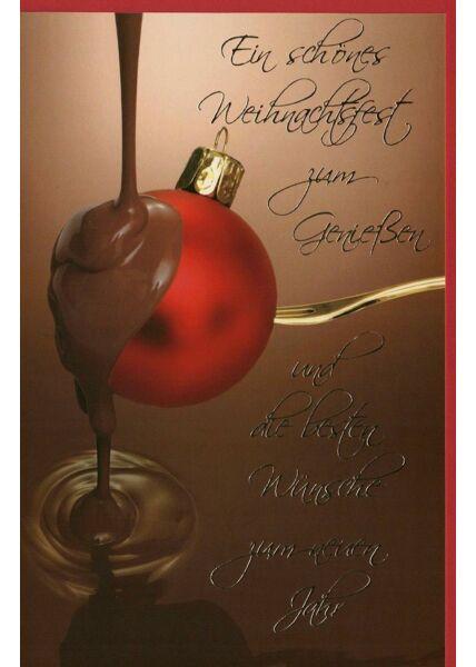 Weihnachtsgrußkarten Weihnachtskarte Schokolade Weihnachtskugel