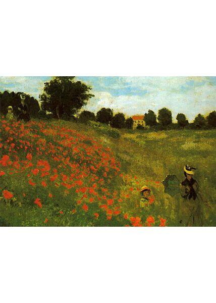 Kunstkarte Claude Monet - Les coquelicots