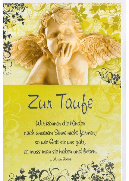 Glückwunschkarte Taufe mit Goethe Zitat