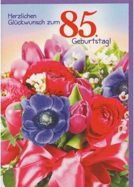 85. Geburtstagskarte Blumenstrauß