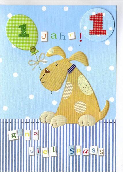 Geburtstagskarte 1 Jahr erster Geburtstag
