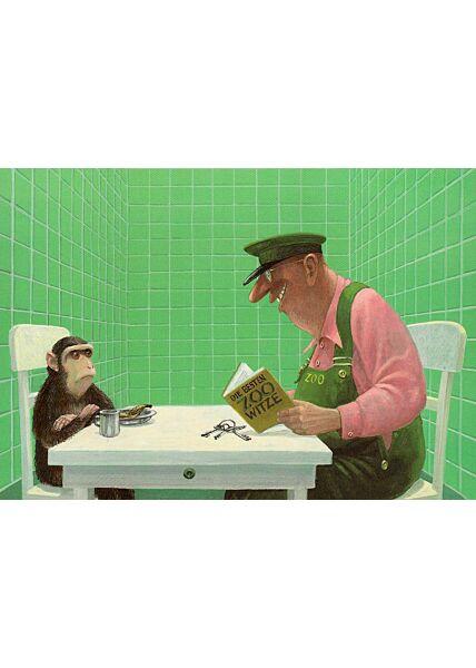 Postkarte witzig Zoo Witze
