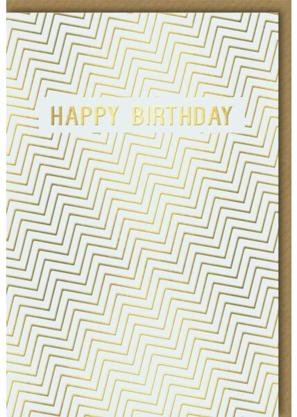 Edle Geburtstagskarte Business Happy Birthday gold