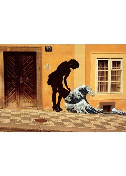 Kunstpostkarte Street Art Wave