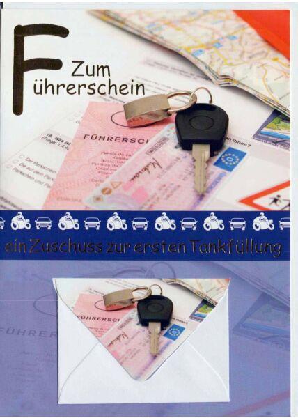 Karte Führerschein mit Geldfach: Autoschlüssel